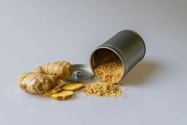 Ginger is one of the home remedies for a sore uvula.