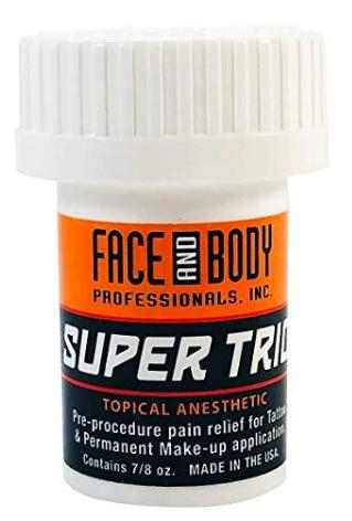 Face and Body Super Trio Topical Pre-Procedure Anesthetic Numbing Cream Tattoo