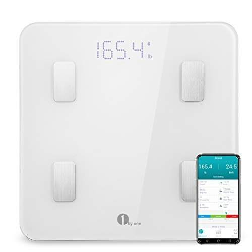 1byone Bluetooth Body Fat Scale with IOS and Android App Smart