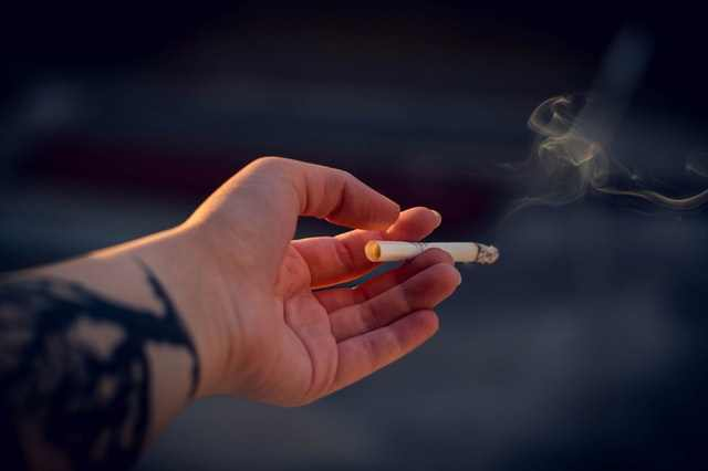Smoking is the cause of swelling of the throat and uvula