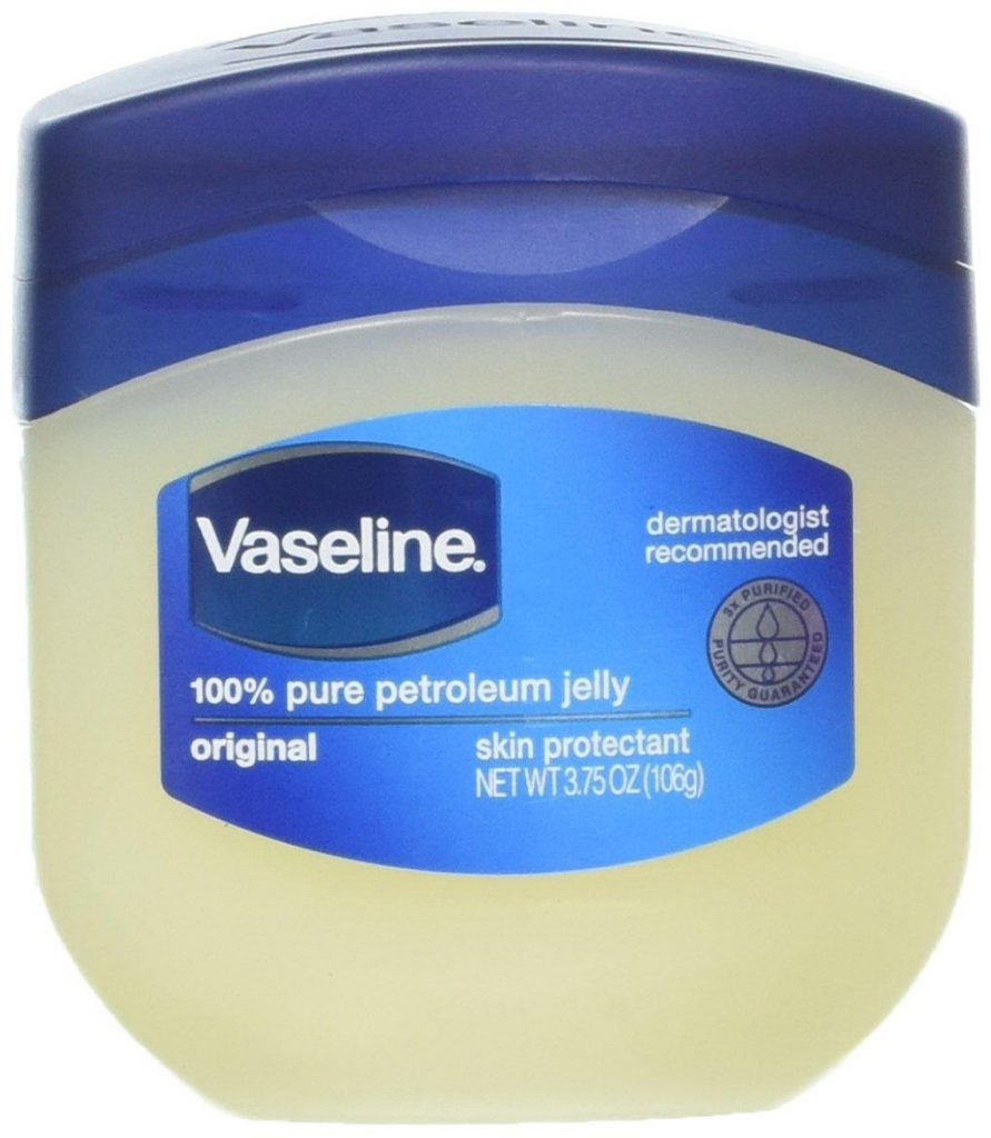 Vaseline for eye brows growth